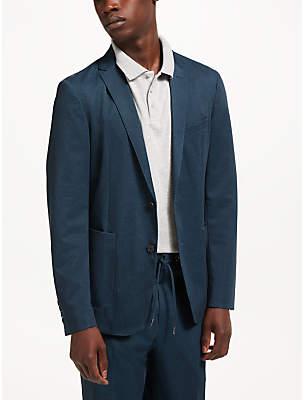 John Lewis Kin by Athleisure Jersey Suit Jacket, Navy
