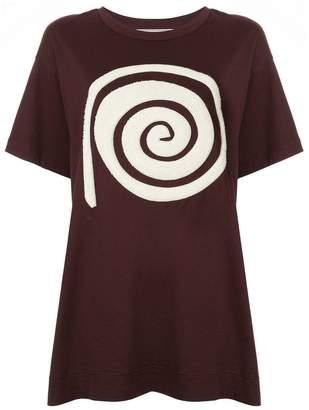 Tu Es Mon Trésor Spiral oversized T-shirt
