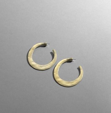 Worn Gold Hoop Earrings