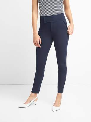 b0c18d7068724 Zip Leggings with Wide Waistband in Bi-Stretch