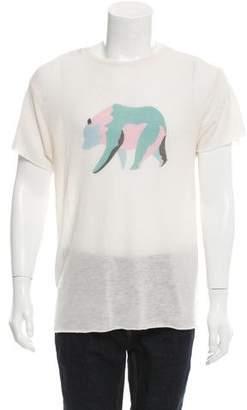 The Elder Statesman Bear Print Cashmere T-Shirt w/ Tags