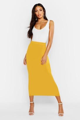 boohoo Basic Jersey Midaxi Skirt