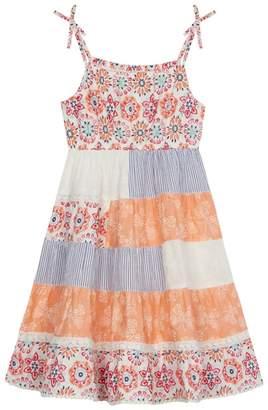 Mantaray 'Girls' Multi-Coloured Patchwork Dress