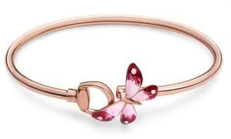 Gucci Flora bracelet in rose gold and enamel