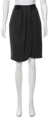 Emporio Armani Pinstripe Pleated Skirt