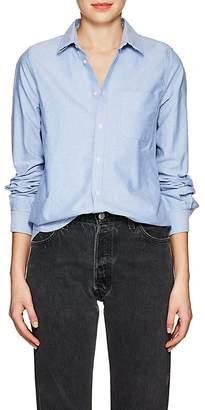 VIS A VIS Women's Cotton Oxford Cloth Button-Down Shirt
