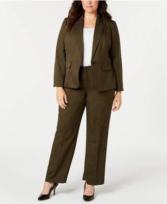 Le Suit Plus Size One-Button Pant Suit