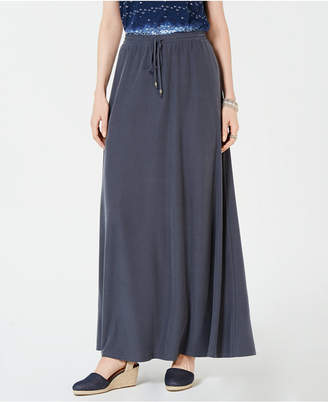 Style&Co. Style & Co Drawstring Maxi Skirt, Created for Macy's