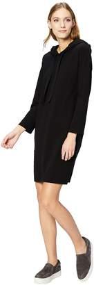 Daily Ritual Women's Cotton Modal Terry Hooded Sweatshirt Dress Dress