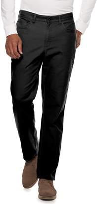 Croft & Barrow Men's Straight-Fit Flannel-Lined Canvas 5-Pocket Pants