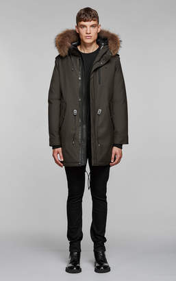 Mackage MORITZ-D FLANNEL PARKA WITH FUR LINED HOOD