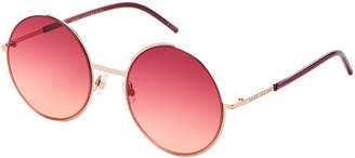 Marc Jacobs MARC 34/S Burgundy & Pink XL Round Sunglasses