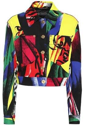 Versace Printed denim jacket