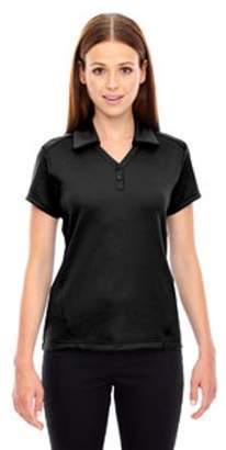 Ash City - North End Sport Red Ladies' Exhilarate Coffee Charcoal Performance Polo with Back Pocket - BLACK 703 - XL 78803