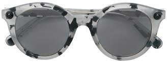 Christopher Kane Eyewear round frame speckled sunglasses