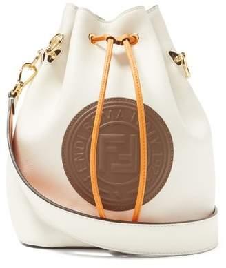 9d575ac5ed78 Fendi Mon Tresor Logo Embossed Leather Bucket Bag - Womens - White Multi