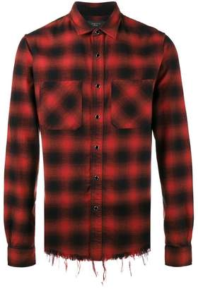 Amiri Check Core distressed fitted shirt
