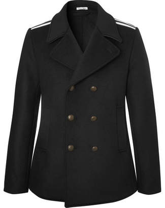 Tomas Maier Double-Breasted Grosgrain-Trimmed Wool-Blend Coat