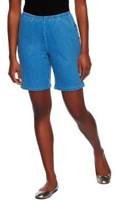 "Denim & Co. How Timeless"" Stretch Two Pocket Shorts"