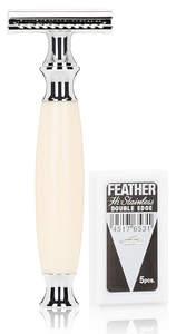 Olivina MEN Safety Razor + 5 Blades - Ivory Resin