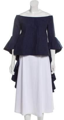 Ellery Linen Off-The-Shoulder Top