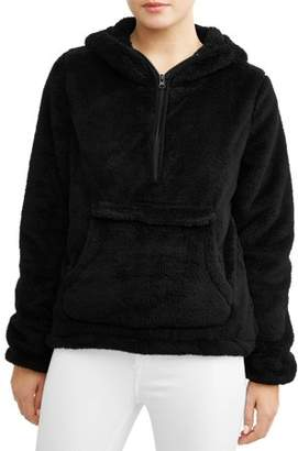 Climate Concepts Women's Fluffy Fleece Pullover Hoodie