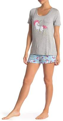 Couture Curvy Unicorn Shorts Pajama 2-Piece Set