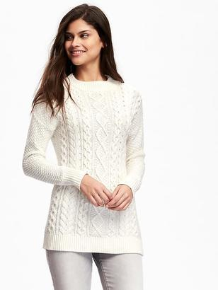 Mock-Neck Cable-Knit Sweater for Women $39.94 thestylecure.com