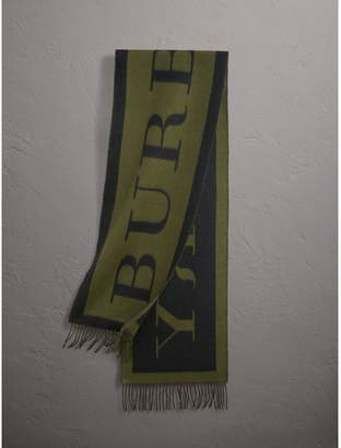 Burberry Emblem Print Cashmere Scarf