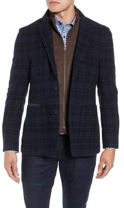 Kroon Richards Classic Fit Plaid Wool Blend Sport Coat