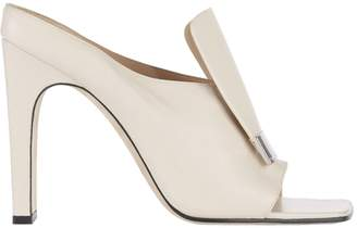 Sergio Rossi sr1 Buckled Front Flap Leather Sandals
