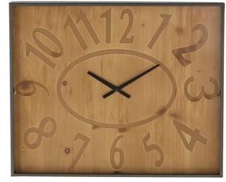 DecMode Decmode Rustic 16 X 20 Inch Brown Wall Clock