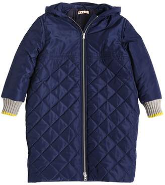 Hooded Quilted Nylon Puffer Coat