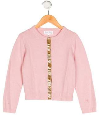 Rachel Riley Girls' Wool Button-Up Cardigan