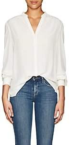 L'Agence Women's Raquel Silk Button-Back Blouse - White