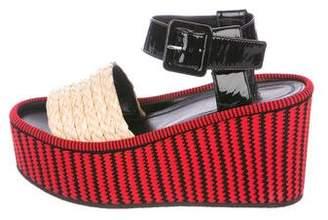 Celine Raffia Platform Sandals