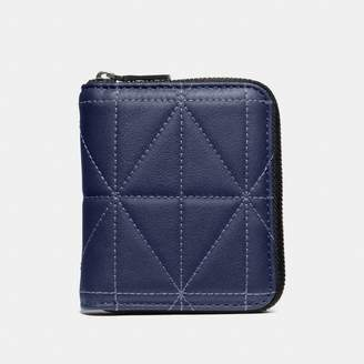 Coach Small Zip Around Wallet With Quilting