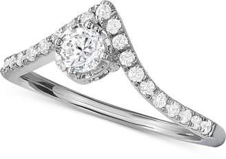 Macy's Diamond V-Shape Engagement Ring (1/2 ct. t.w.) in 14k White Gold