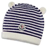 Moncler Unisex Berretto Striped Knit Beanie - Baby