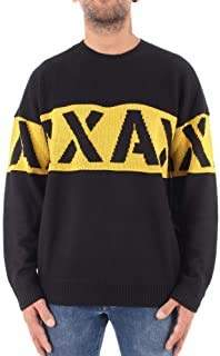 Armani Exchange A X Men's Crew Neck Pullover with Large Stencil Logo