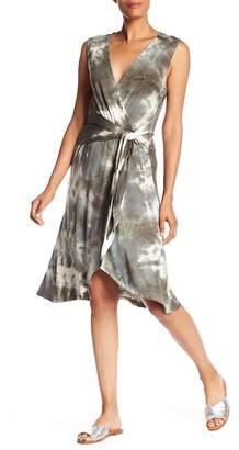 Bobeau B Collection by Rowan Tie-Dye Faux Wrap Dress