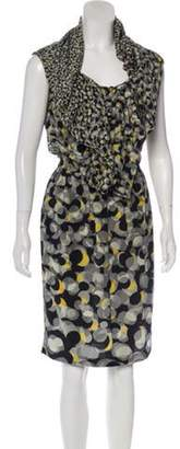Jean Paul Gaultier Silk Printed Dress Grey Silk Printed Dress