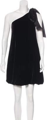 Diane von Furstenberg Velvet One-Shoulder Dress