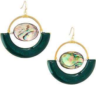 Nakamol Abalone & Green Enamel Earrings