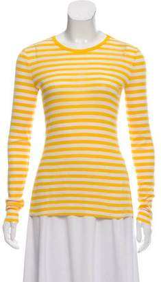 Tory Sport Striped Long Sleeve Top