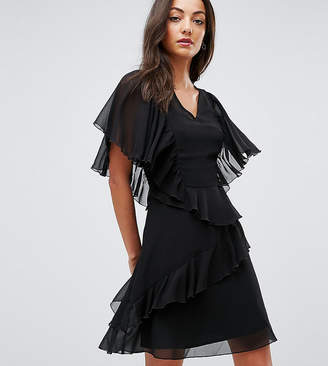 Asos Tall TALL V Neck Ruffle mini dress