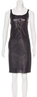Narciso Rodriguez Leather Sleeveless Dress