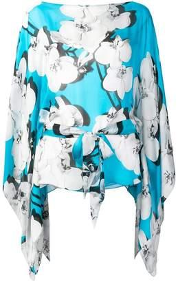 Roberto Cavalli floral flared blouse