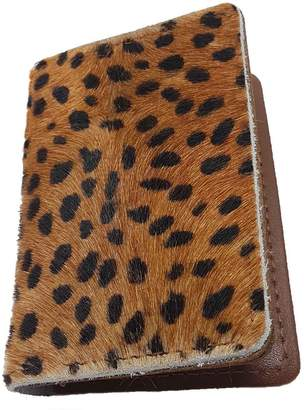 N'Damus London - Cheetah Print & Tan Leather Credit Card Holder