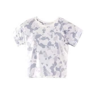 Okayla - Cropped Camo Print T-Shirt